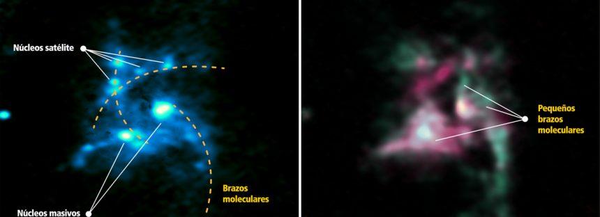 G33.92+0.11, la espiral que alimenta estrellas en nuestra galaxia