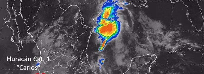 """Aviso de Ciclón Tropical en el Pacífico: SÍNTESIS: Huracán """"Carlos"""" categoría 1"""
