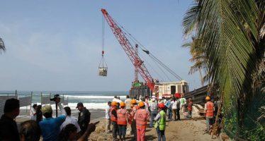 Desmantelan muelle Revolcadero; la empresa constructora será responsable de todos los gastos, sostiene la Semarnat