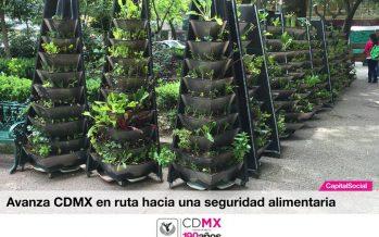 Entregan huertos y jardines agroalimentarios en la Ciudad de México