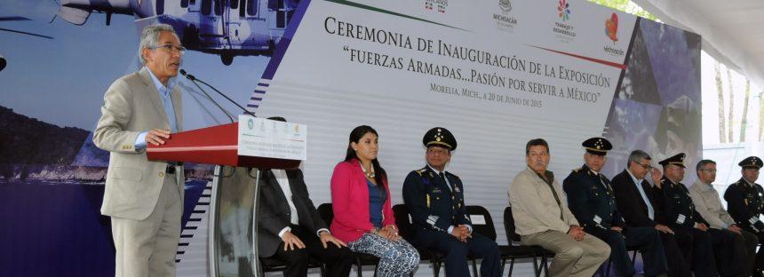 Inauguran exposición Fuerzas Armadas, Pasión por Servir a México