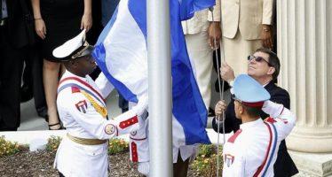 El canciller cubano exige en Washington el levantamiento del embargo