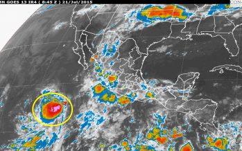 Aviso de zonas de baja presión en el Océano Pacífico con potencial ciclónico