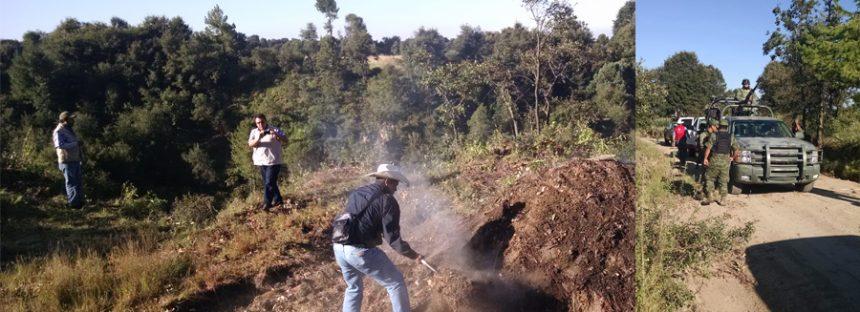 En Parque Nacional Malinche en Tlaxcala, inhabilitan dos hornos de carbón