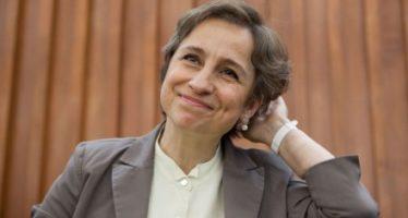 Carmen Aristegui recibe Premio Presidencial al Valor