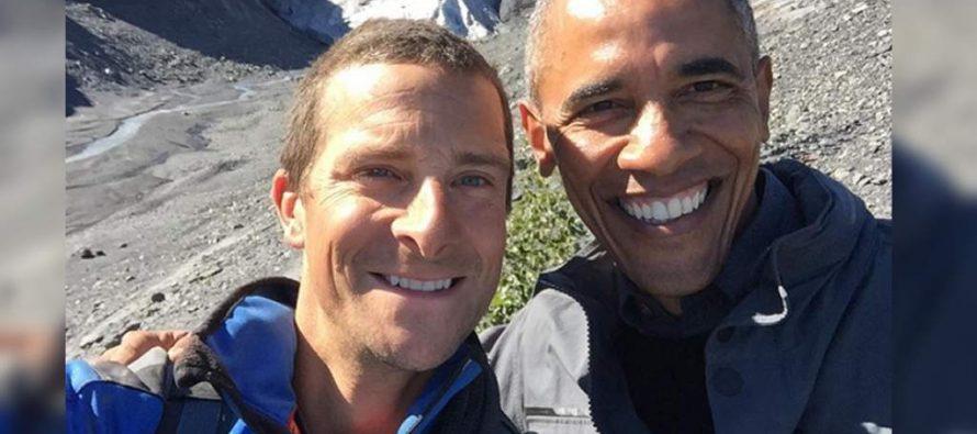 Barack Obama y Bear Grylls comparten fotos de su aventura en Alaska
