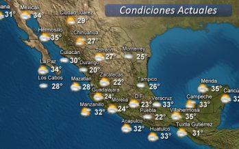 Para hoy, se pronostican lluvias intensas en Tamaulipas, Veracruz, Oaxaca y Chiapas