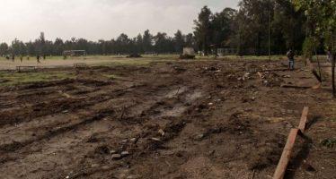 Ciudad Deportiva la Magdalena Mixhuca devastada