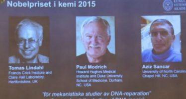 Premio Nobel de Química 2015 a científicos que desarrollaron reparación del ADN