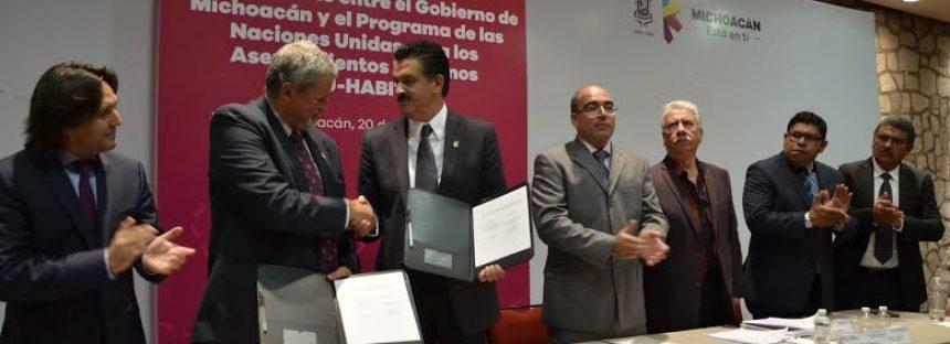 Habrá colaboración entre Gobierno de Michoacán y ONU-Hábitat