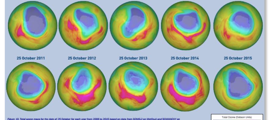 Encuentran enorme agujero de ozono, sobre la Antártida