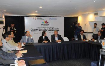 Gobierno de Michoacán y ONU trabajarán conjuntamente