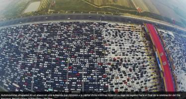 ¿Vio algo así alguna vez? China vive uno de los peores atascos de tráfico de la historia