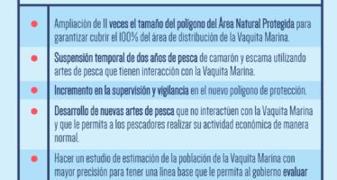 Elementos del Programa de Conservación de la Vaquita Marina