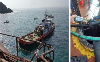 """Exitoso trasvase de hidrocarburos del buque """"Los Llanitos"""""""