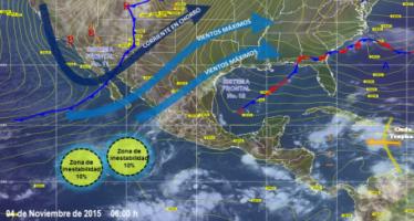 Lluvias fuertes en Coahuila, Guerrero, Chiapas, Tabasco, Oaxaca, Yucatán, Campeche y Quintana Roo