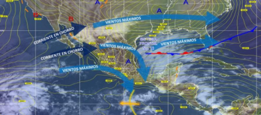 Prevén lluvias intensas en Veracruz, Oaxaca, Chiapas y Tabasco.