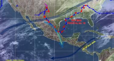 Sistema frontal No. 16 generará lluvias en varios estados de la República