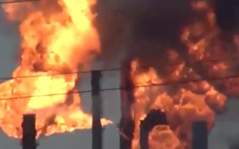 Así se incendió la refinería de Pemex, en Salina Cruz, Oaxaca