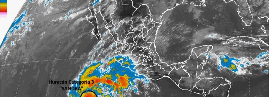 Sandra se convierte en huracán categoría 3