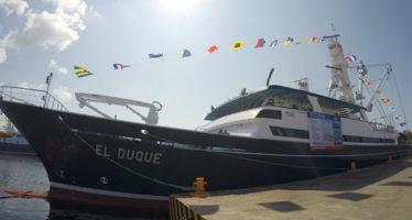 Con un valor de casi 30 millones de dólares, inició operaciones El Duque, uno de los barcos atuneros más modernos del mundo