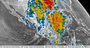 Se mantiene el pronóstico de lluvias, bajas temperaturas, vientos fuertes y nevadas, en distintas regiones de México