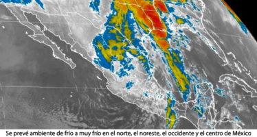 Se prevé ambiente de frío a muy frío en el norte, el noreste, el occidente y el centro de México
