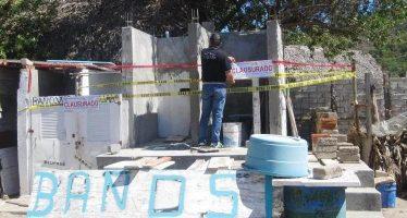 CLAUSURA PROFEPA CONSTRUCCIÓN DE DOS ÁREAS DE BAÑOS, EN LAGUNA DE JULUAPAN, EN MANZANILLO