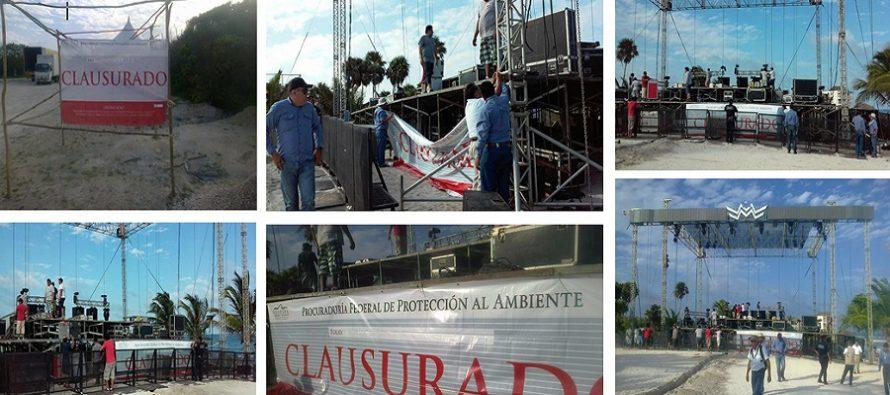"""CLAUSURA PROFEPA INSTALACIONES FIJAS Y SEMIFIJAS DEL ESPECTÁCULO """"MAYAN MADNESS ELECTRONIC MUSIC FESTIVAL"""" A EN TULUM"""