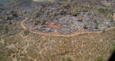 Gobierno de Michoacán continúa acciones de prevención y control de incendios forestales