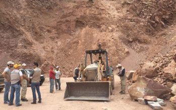 Atiende ProAm denuncia e inspecciona bancos de materiales pétreos en Zitácuaro