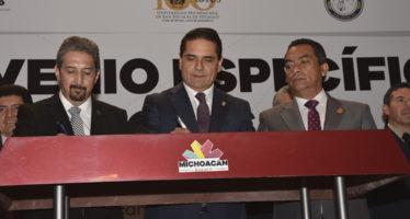 Cierra filas la UMSNH con el gobernador Silvano Aureoles para lograr la pacificación y seguridad de Michoacán