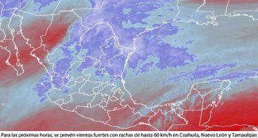Se prevén vientos fuertes en Coahuila, Nuevo León y Tamaulipas