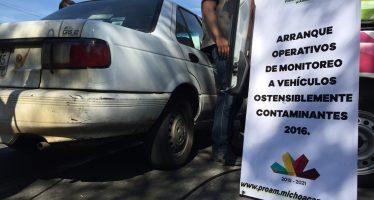 INICIA EN MORELIA OPERATIVO DE MONITOREO DE VEHÍCULOS OSTENSIBLEMENTE CONTAMINANTES