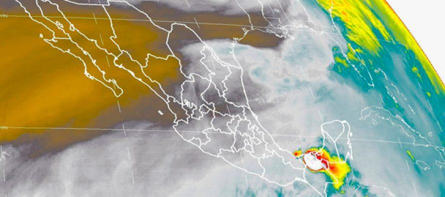 lluvias muy fuertes en Tabasco y fuertes en Veracruz, Campeche, Oaxaca y Chiapas