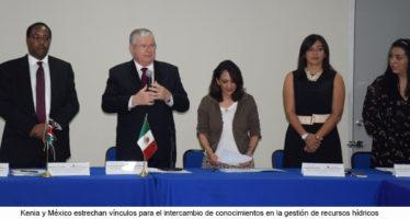 Kenia y México estrechan vínculos para el intercambio de conocimientos en la gestión de recursos hídricos