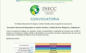 Calidad del aire, mitigación y adaptación: Encuentro Nacional de Respuestas al Cambio Climático