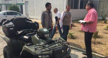 PROAM ENVÍA EQUIPO MOTORIZADO TODO TERRENO PARA LAS LABORES CONTRA INCENDIOS