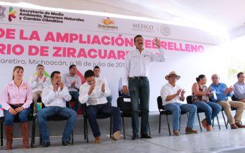 Inaugura SEMARNACC ampliación del relleno sanitario de Ziracuaretiro