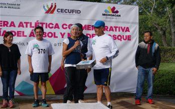 En Michoacán, carrera atlética con motivo del Día del Árbol y Mes del Bosque
