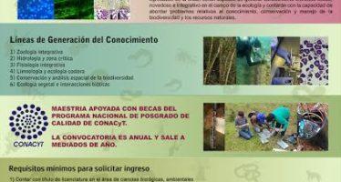 Abierta recepción de solicitudes para Maestría en Ciencias en Ecología Integrativa en el INIRENA