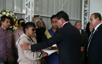 El gobernador Silvano Aureoles encabeza homenaje a agentes caídos en Tierra Caliente