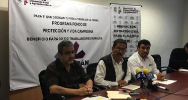 En marcha, seguro de vida para 30 mil hombres y mujeres del campo: Sedrua
