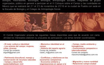 III COLOQUIO SOBRE EL CAMPO Y LAS RURALIDADES EN MÉXICO