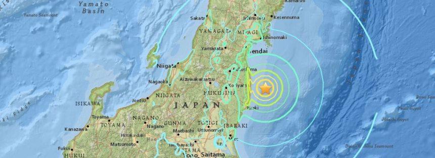 Fukushima, sacudida por un fuerte terremoto de 7,3