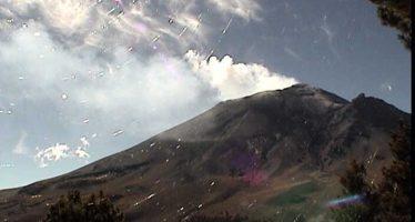 20 horas de tremor armónico en volcán Popocatépetl