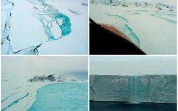 Uno de los más grandes icebergs del mundo en la Antártica está a punto de desprenderse