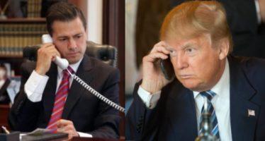 Tras discutir una hora sobre el muro fronterizo por teléfono, EPN y Trump acordaron no hablar públicamente sobre el tema
