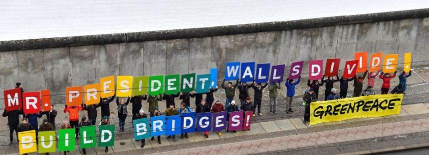 Arremete Greenpeace: Contra el muro fronterizo… empleos verdes y energías renovables
