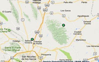 Tres sismos sacuden poblados del norte de Monterrey, Nuevo León